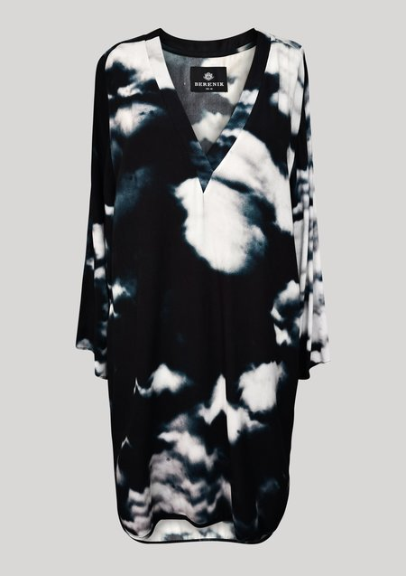 Berenik SHIRT/DRESS - printed black/white