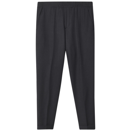 Filippa K terry gabardine cropped trousers - Anthracite