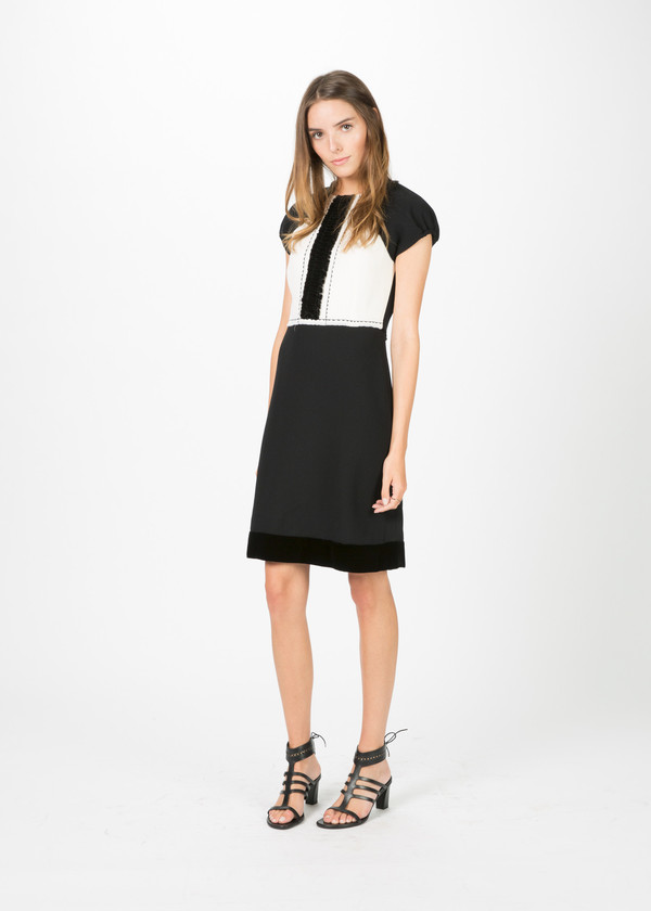 Amelia Toro Wool Crepe Cocktail Dress