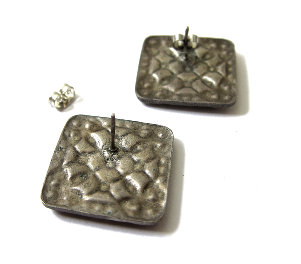 nouveau enamel rhinestone earrings