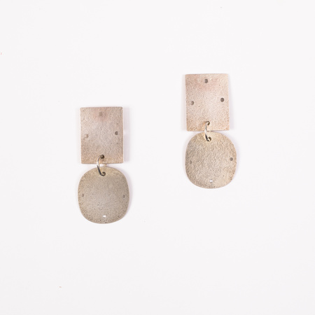 Annie Costello Brown Overt Small Earrings - Sterling Silver