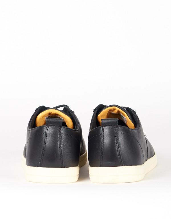 Men's Clae Ellington Black Tumbled Leather Cream