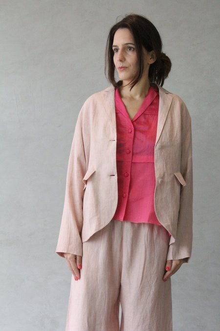 Runaway Bicycle Call me from Glasgow Jacket - Peach