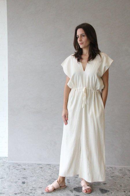 Aish AVA Indigo Kaftan Dress - Natural