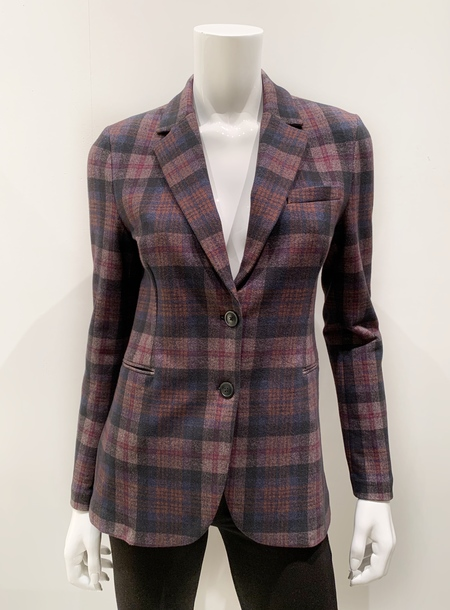 Circolo Slim Fit Stretch Blazer - British Plaid