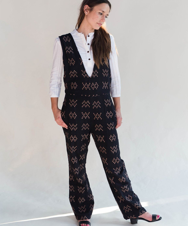 Ace & Jig Black Sampler Hot Cross Romper