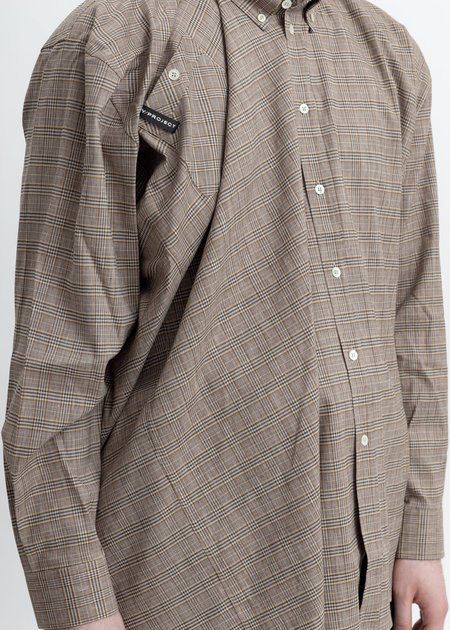 Y/project Twisted And Fid Shirt - Beige Check