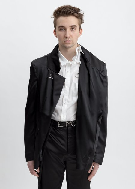 Y/project Oversized Fitted Blazer - Black