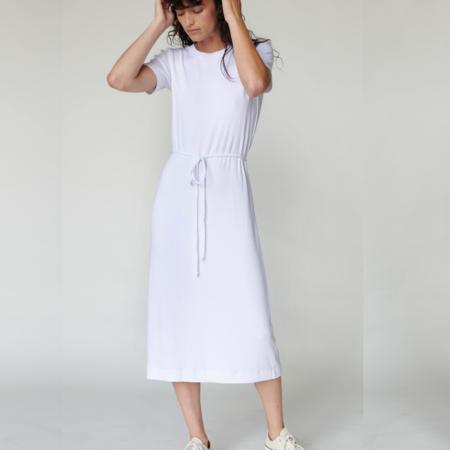 Stateside 2x1 Mini Rib Tee Dress with Tie - Army