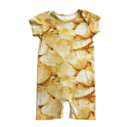 Kids Romey Loves Lulu Potato Chips Short Romper