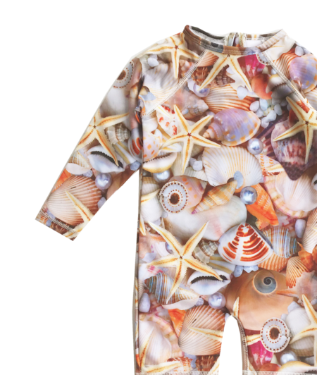 Kids Romey Loves Lulu Seashells Rash Guard