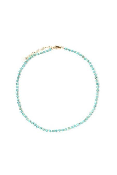 Tess+Tricia Turquoise Simple Choker