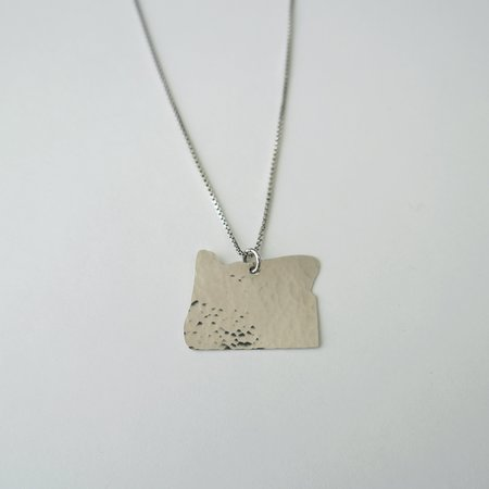 Oh So Antsy Large State Necklace - Sterling Silver