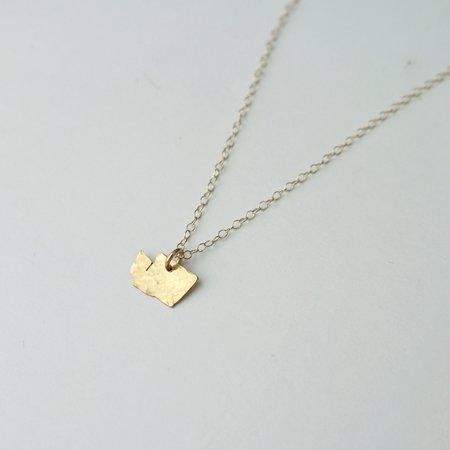 Oh So Antsy Washington State Necklace - 14K Gold