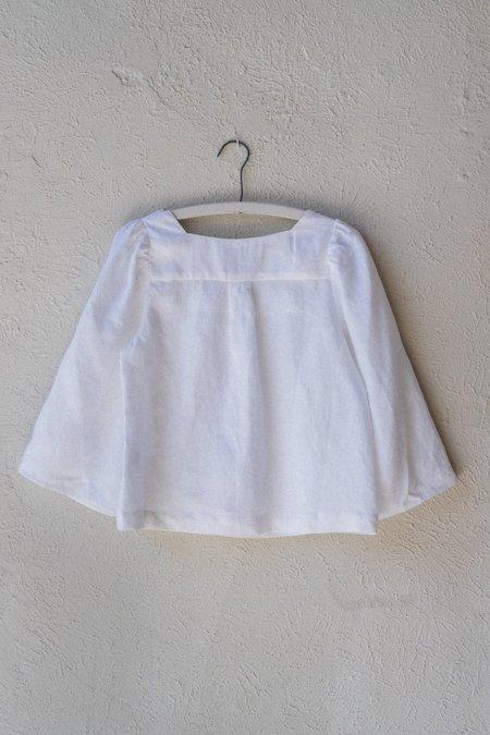 Town Clothes WILLIAMS LINEN BLOUSE - MAGNOLIA