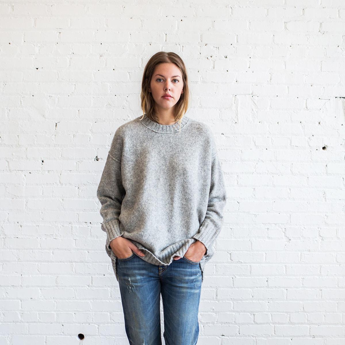 R13 Oversized Crewneck Sweater  ea5658d22