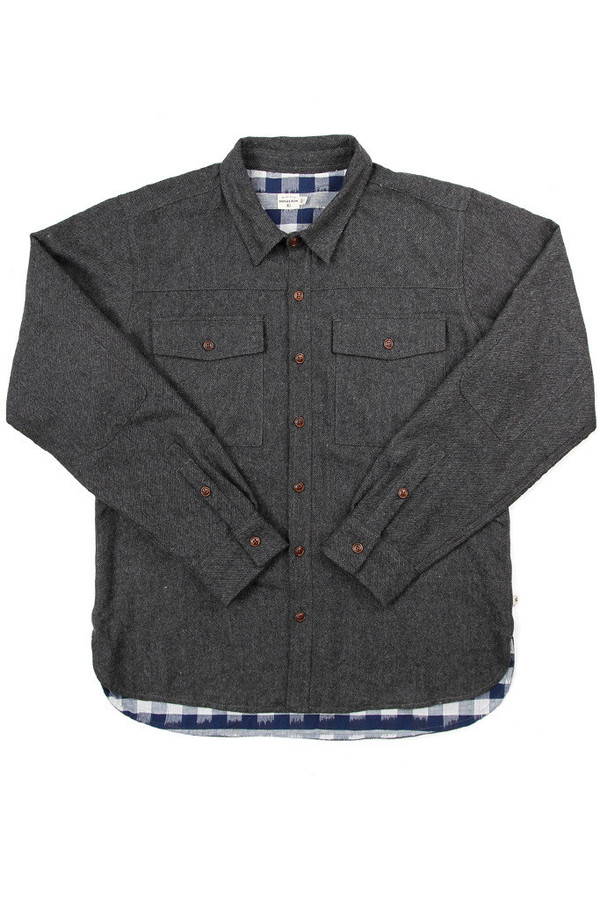 Bridge & Burn Flint Overshirt Charcoal