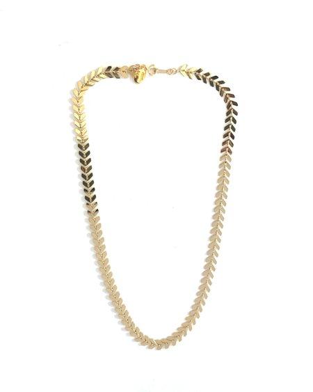 Jennifer Tuton Gold Chevron Chain Choker - 24K Gold