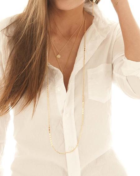 Jennifer Tuton Gold Slinky Necklace - 14K Goldfill