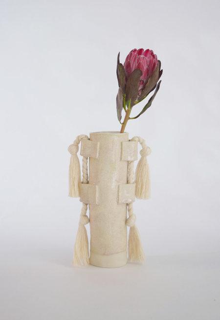 Karen Gayle Tinney Vase #504 - White