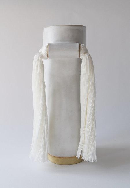Karen Gayle Tinney Vase #531 - White
