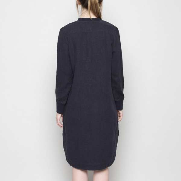 7115 by Szeki Fall Jumper Dress - Linen - Navy FW16