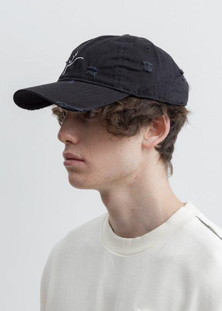 Faineant Distressed 'Linellae' Cap - Black