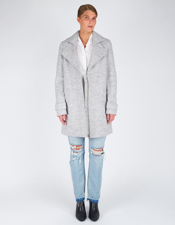 Minimum Berrit Outerwear White Grey Melange