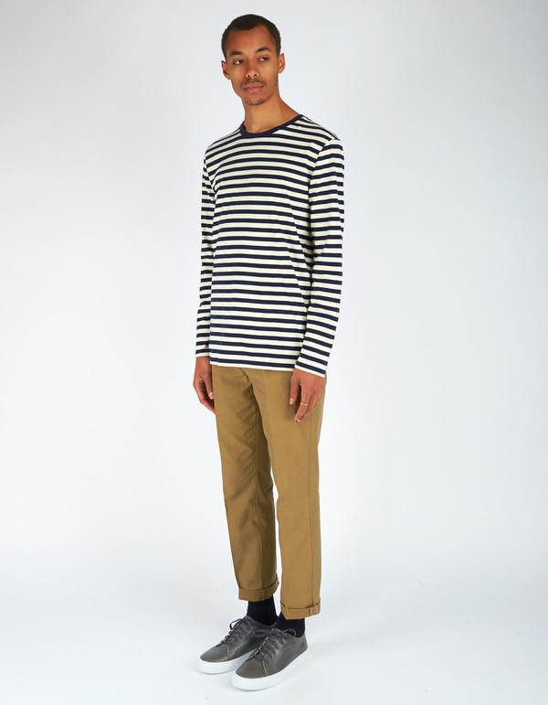 Men's Neuw Stripe Long Sleeve Tee Navy Stripe