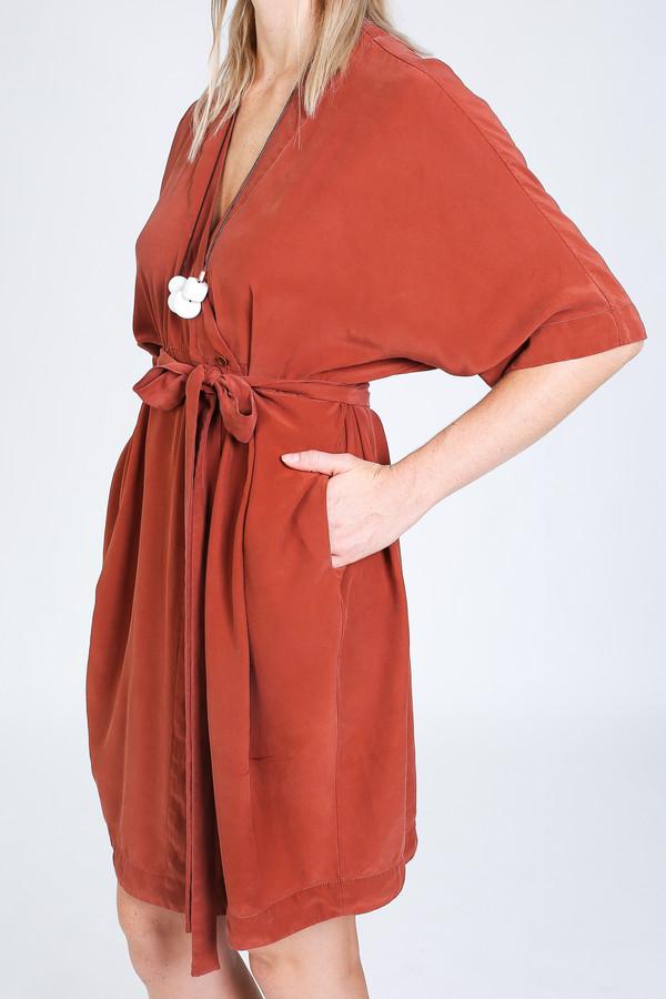 Vincetta Knee Length Kimono Dress in sequoia
