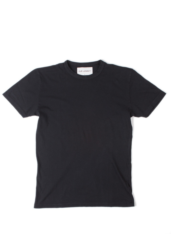 Our Legacy Perfect Tee Washed Black Army Jersey