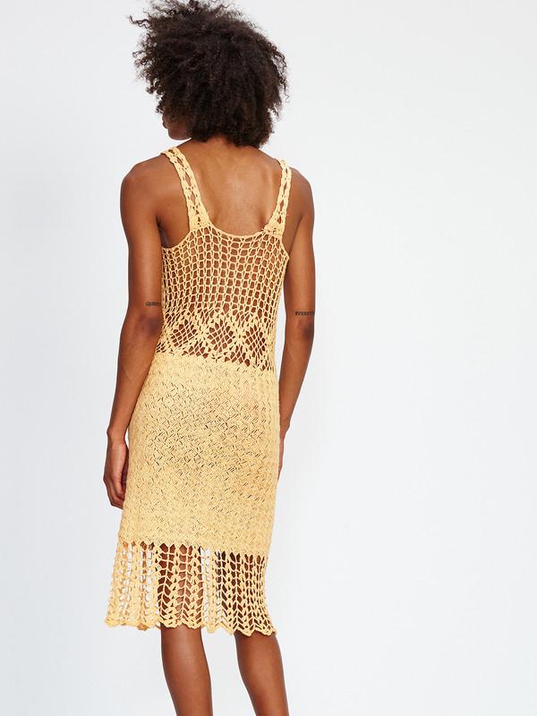 Harare CROCHET LONG DRESS / TANGERINE