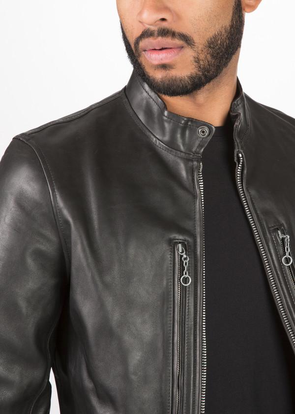 R13 Cafe Racer Leather Jacket