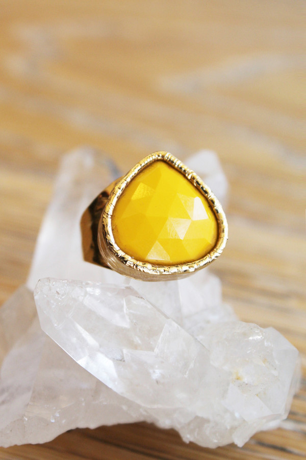 sheila b yellow chalcedony cocktail ring