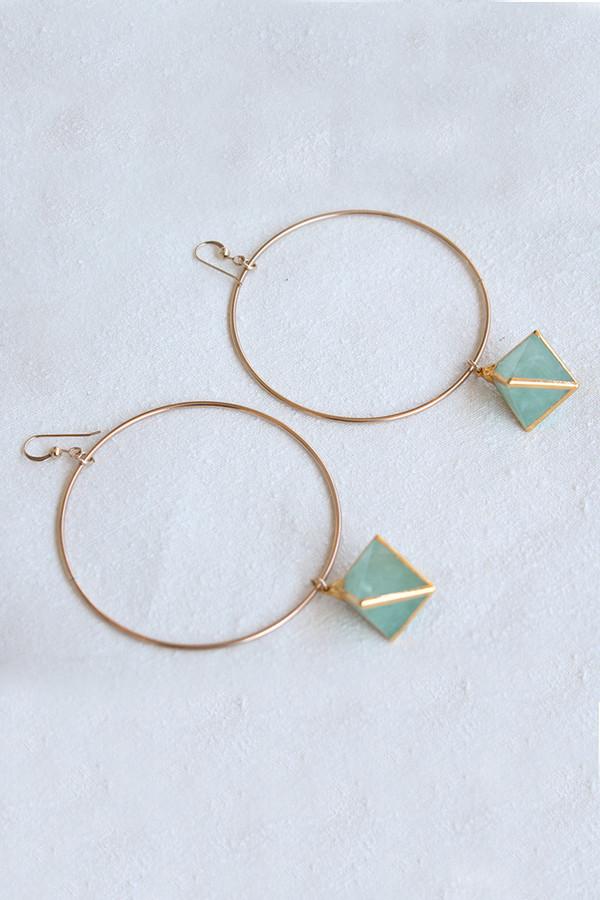 sheila b fluorite hoop earrings