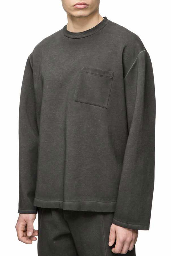 Men's Our Legacy Box Scuba Long Sleeve I Black