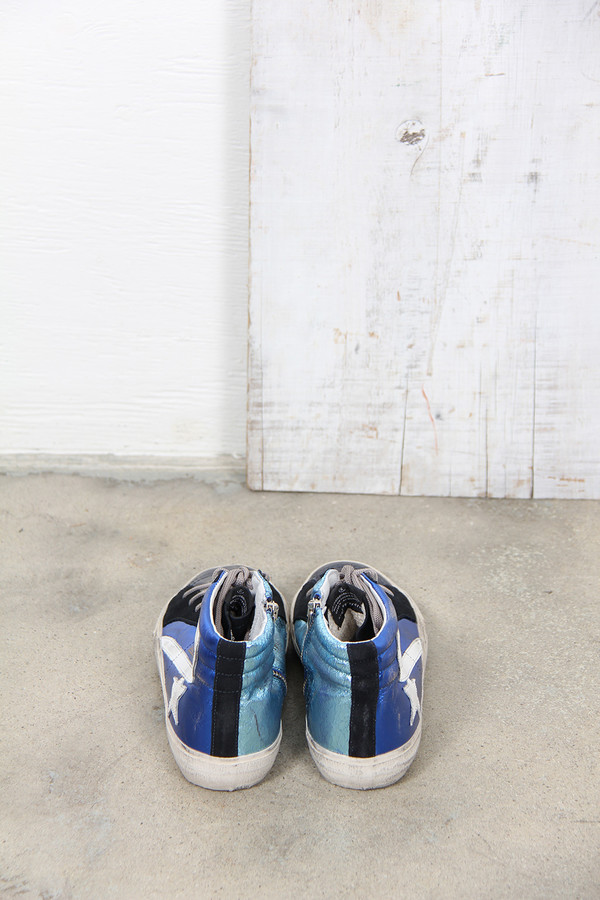 Golden Goose SLIDE SNEAKERS IN BLUE SHADES