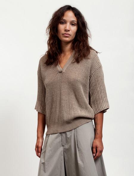 Cristaseya Womens Linen Polo Khaki