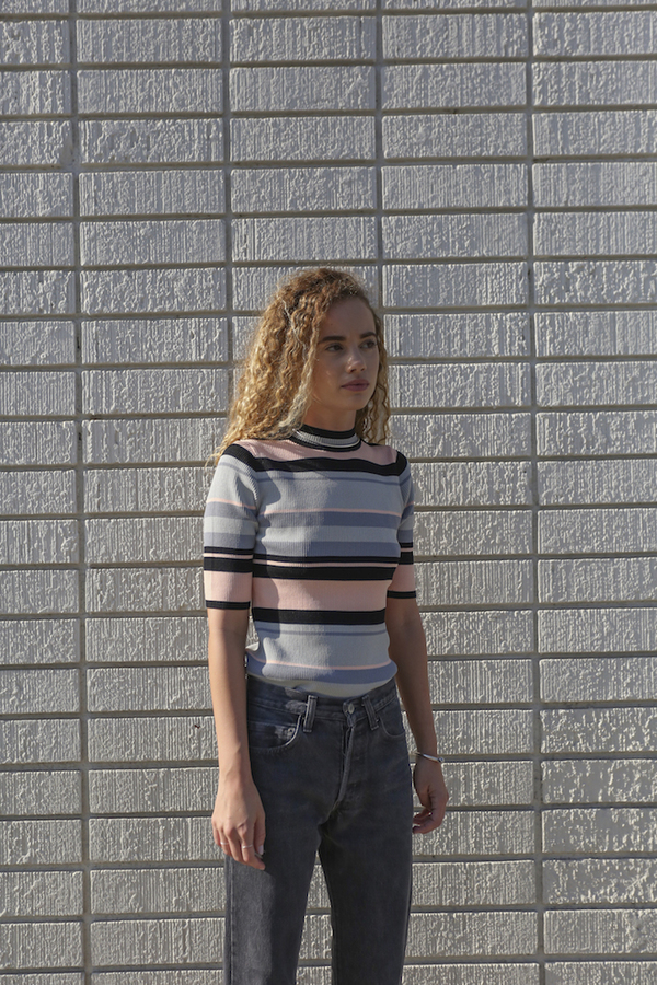 Objects Without Meaning Rib Tee, Dark Stripes