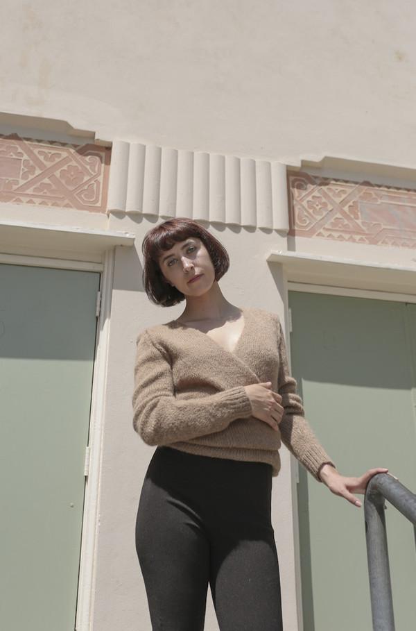 A Détacher Tiara Wrap Sweater in Honey