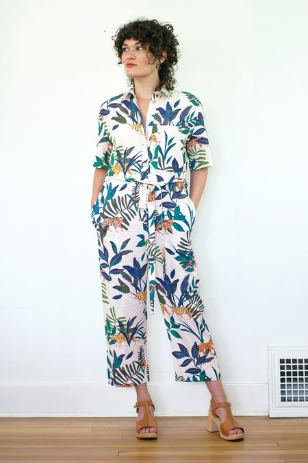Corey Lynn Calter Anais Jumpsuit - Tiger Print