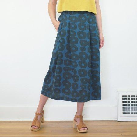 Allison Wonderland Cler Skirt - Blue Circles