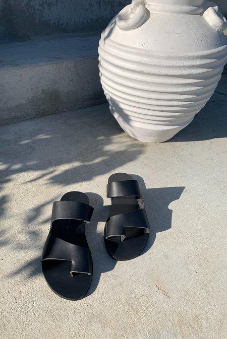 KYMA Gavdos Cutout Sandals - Black