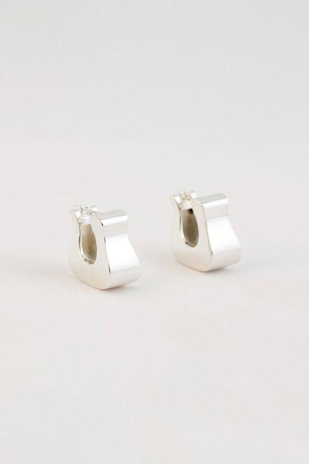 MM Druck Hoof Earrings - Sterling Silver