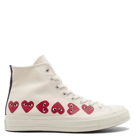 Converse x COMME des GARÇONS PLAY Chuck Taylor Hi Top Sneaker - Off White