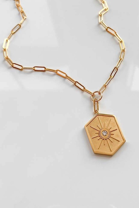 Thatch Guiding Star Link Necklace - 14k gold plated