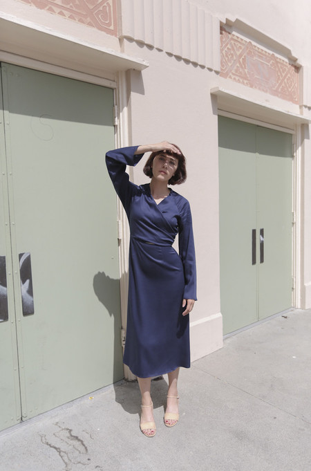 Shaina Mote Taiga Dress in Navy
