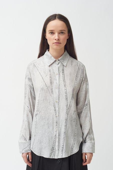 Colovos Seamed Denim Print Shirt