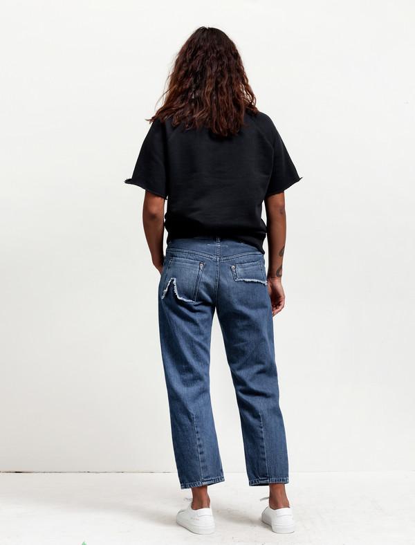 MM6 by Maison Margiela Womens Cropped Denim Medium Blue