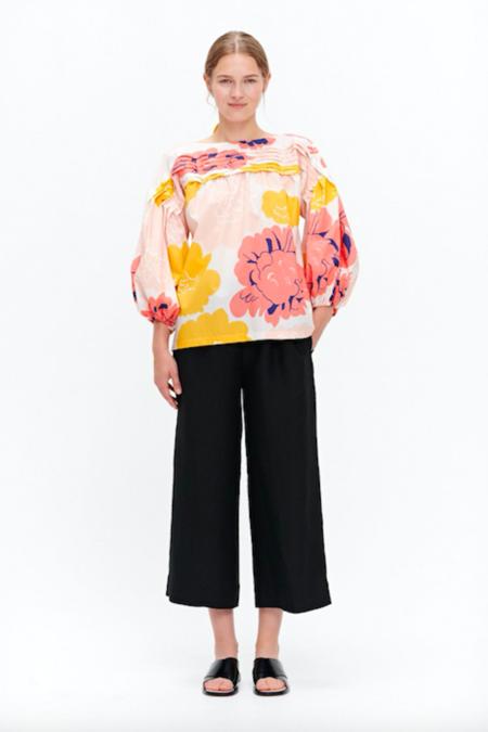 Marimekko Mukura Pioni Shirt - Peach